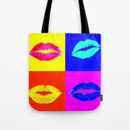 LIP SERVICE COLORS POP ART Tote Bag