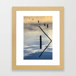 Pieces of wood reflection Framed Art Print