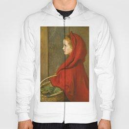 """John Everett Millais """"Red Riding Hood (A Portrait of Effie Millais, the artist's daughter)"""" Hoody"""