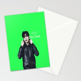 24K Kim Daeil Green Stationery Cards