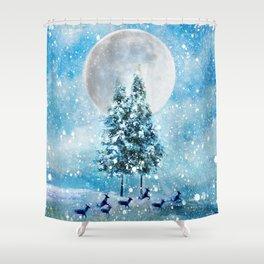Winter Night 4 Shower Curtain