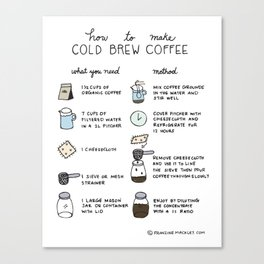 How To Make Cold Brew Coffee Canvas Print