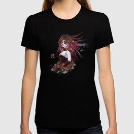 Sugar skull girl in purple T-shirt