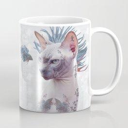 Smells Like Spring tattooed cat Coffee Mug