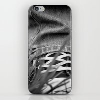 sneakers iPhone & iPod Skins featuring Sneakers by Fine2art
