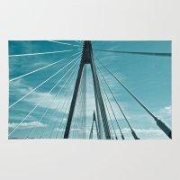 bridge Area & Throw Rugs featuring Bridge by Sandy Broenimann