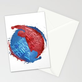 a boy from daxam - supervalor yinyang Stationery Cards
