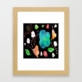 Japaneses midnight garden Framed Art Print