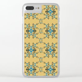 Shears in blue game Clear iPhone Case