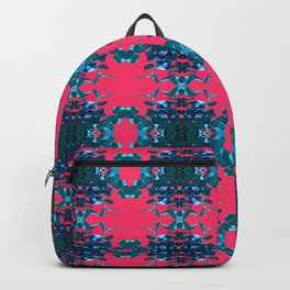 Blue and Pink Kaleidoscope Pattern Backpack