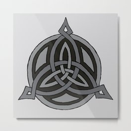 Triskele Points - Dark Metal Print