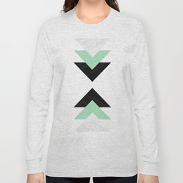 Contrast Marble Mint Arrows Collage Long Sleeve T-shirt