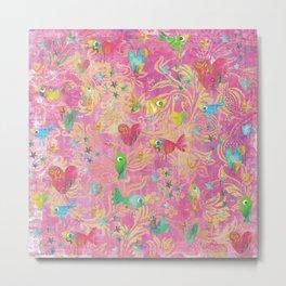 Artsy Spirit Pink Metal Print