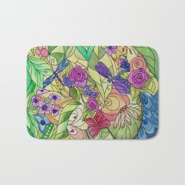 Stained Glass Garden Too Bath Mat