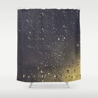 glass Shower Curtains featuring Glass by michelleyork