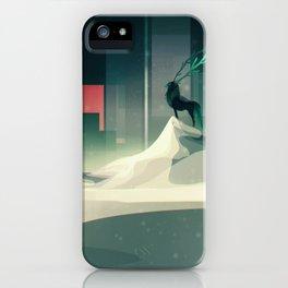 Winter in a dark world iPhone Case