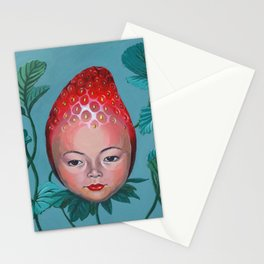 Strawberry head Stationery Cards