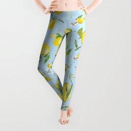 Watercolor lemons 10 Leggings