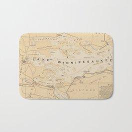 Vintage Map of Lake Winnipesaukee (1896) Bath Mat