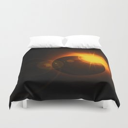 Total  Eclipse Astro Photography Duvet Cover