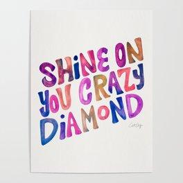 Shine On Your Crazy Diamond – Vintage Palette Poster