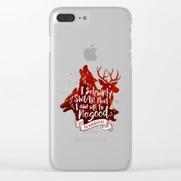 I solemnly swear - white Clear iPhone Case
