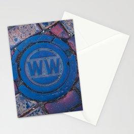 Water Main Caps Street Brick Stationery Cards