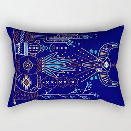 Santa Fe Garden – Navy Rectangular Pillow