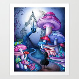 Alice - Gates to Wonderland Art Print