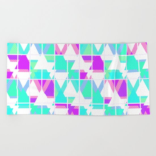 Abstract geometric pattern 4 . Beach Towel