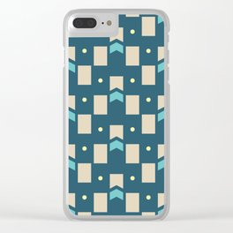 Art Deco Geometric Pattern 274 Clear iPhone Case