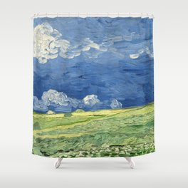 Vincent van Gogh - Wheatfield Under Thunderclouds Shower Curtain