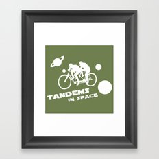 Tandems in Space in Green Framed Art Print