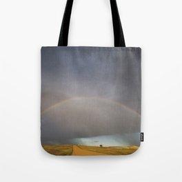 Rainbow after the Storm - Badlands National Park Tote Bag