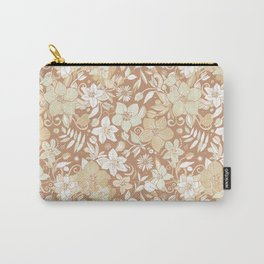 Helleborus and birds | gold Carry-All Pouch