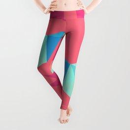 Vivid Pink Paper Cranes Leggings