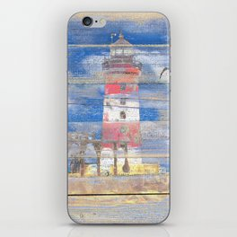 Lighthouse with Seagulls A343 iPhone Skin