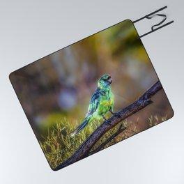 Mallee Ringneck Parrot Picnic Blanket