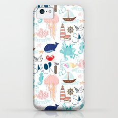 Nautical Doodles iPhone 5c Slim Case