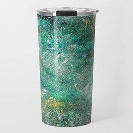 A galactic ocean -Green- Cosmic Painting Art Travel Mug