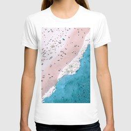 Aerial View Beach Wall Art, Ocean and Coastal Photography T-shirt