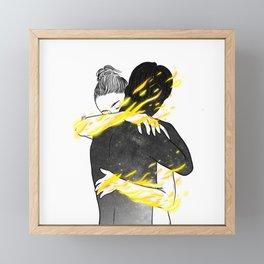 Calm fire. Framed Mini Art Print
