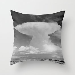 Anvil-shaped cumulonimbus cloud. Pike's Peak, Colorado Throw Pillow
