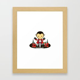 Count Dracula and the Halloween party Framed Art Print