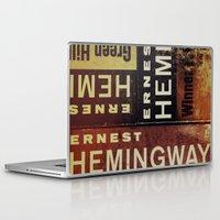 hemingway Laptop & iPad Skins featuring 3x Hemingway by Ryan W. Bradley