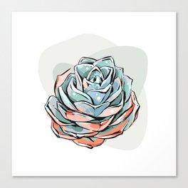 Succulent flower 1 Canvas Print