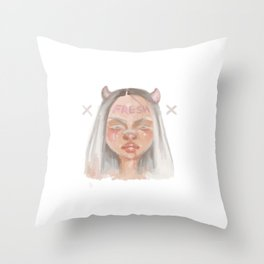 Fresh Girl Throw Pillow