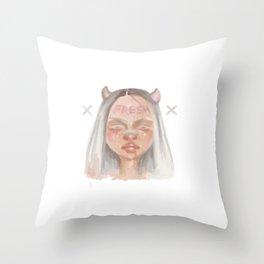 Fresh Girl Throw Pillow