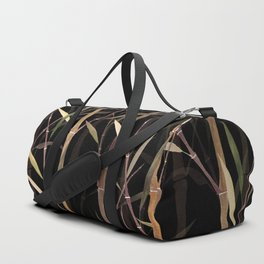 Dry Bamboo Forest at Night Duffle Bag