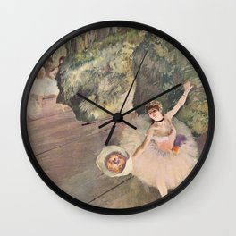 Dancer with a Bouquet of Flowers (Star of the Ballet) Wall Clock
